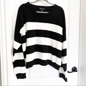 Plus size stripped sweater